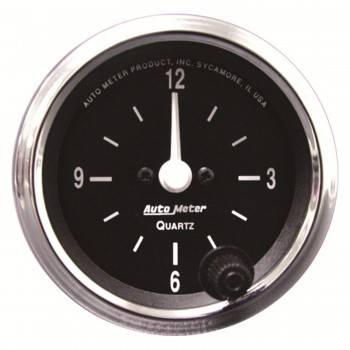 Auto Meter - Auto Meter 2-1/16 12-Volt Electric Clock - Black