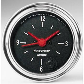 Auto Meter - Auto Meter Traditional Chrome Clock - 2-1/16 in.