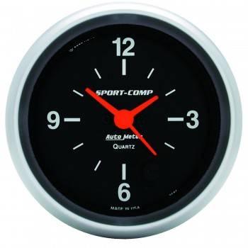 Auto Meter - Auto Meter Sport-Comp Clock - 2-5/8 in.