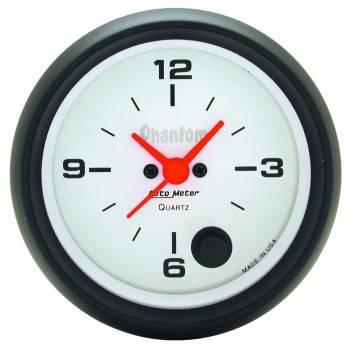 Auto Meter - Auto Meter Phantom Clock - 2-5/8 in.