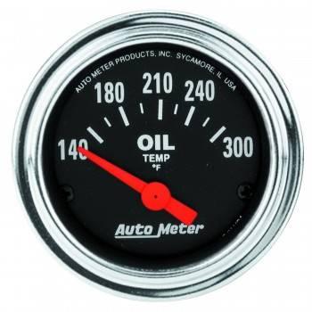 "Auto Meter - Auto Meter Traditional Chrome Electric Oil Temperature Gauge - 2-1/16"""