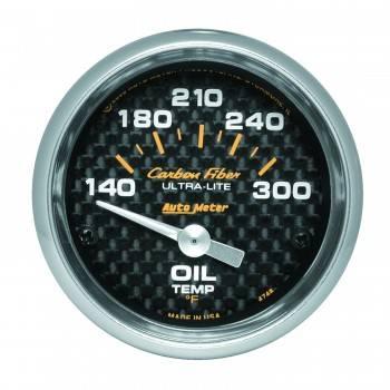 """Auto Meter - Auto Meter Carbon Fiber Electric Oil Temperature Gauge - 2-1/16"""" - 140°-300° F"""