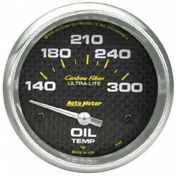 """Auto Meter - Auto Meter Carbon Fiber Oil Temperature Gauge - 2-5/8"""" - 140°-300° F"""