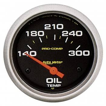 "Auto Meter - Auto Meter Pro-Comp Electric Oil Temperature Gauge - 2-5/8"" - 140°-300°"