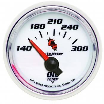 """Auto Meter - Auto Meter C2 Electric Oil Temperature Gauge - 2-1/16"""""""