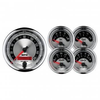 Auto Meter - Auto Meter American Muscle Street Rod Kit - 3-3/8 in.