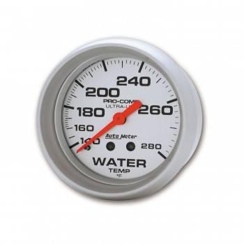 """Auto Meter - Auto Meter Ultra-Lite Water Temperature Gauge - 2-5/8"""" - 140°-280°"""
