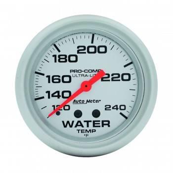 """Auto Meter - Auto Meter Ultra-Lite Water Temperature Gauge - 2-5/8"""" - 120°-240°"""