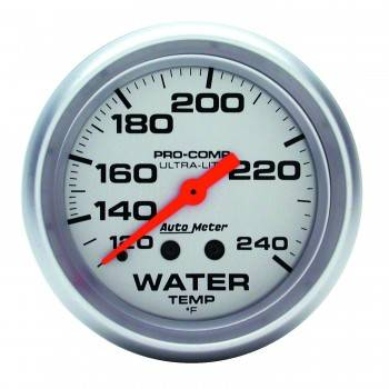 "Auto Meter - Auto Meter Ultra-Lite Water Temperature Gauge - 2-5/8"" - 120°-240°"
