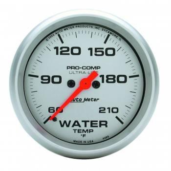 "Auto Meter - Auto Meter Ultra-Lite Electric Water Temperature Gauge - 2-5/8"" - 60°-210° F"