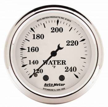 """Auto Meter - Auto Meter Old Tyme White Mechanical Water Temperature Gauge - 2-1/16"""""""