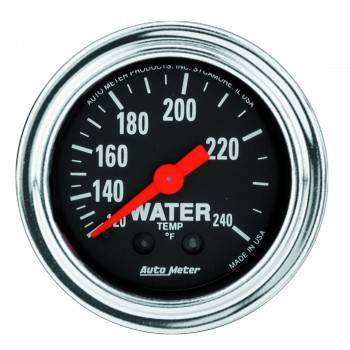 "Auto Meter - Auto Meter Traditional Chrome 2-1/16"" Water Temperature Gauge -100-240°"