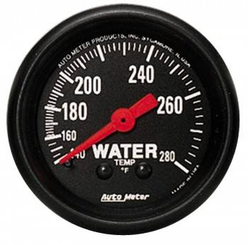 "Auto Meter - Auto Meter Z-Series 2-1/16"" Water Temperature Gauge"