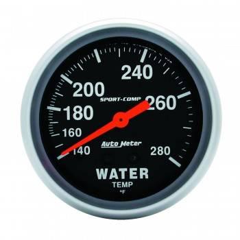 """Auto Meter - Auto Meter 100-280°  Sport-Comp Water Temperature Gauge - 2-5/8"""""""