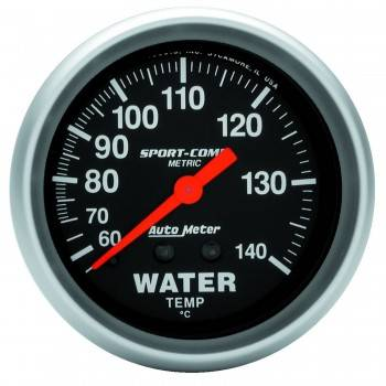Auto Meter - Auto Meter Sport-Comp Mechanical Metric Water Temperature Gauge - 2-5/8""