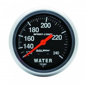 """Auto Meter - Auto Meter 100-240°  Sport-Comp Water Temperature Gauge - 2-5/8"""""""