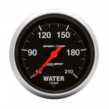 Auto Meter - Auto Meter Sport-Comp Electric ow Temperature Water Temperature Gauge - L60°-210°