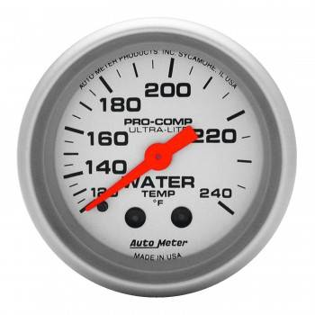 "Auto Meter - Auto Meter Mini Ultra-Lite Water Temperature Gauge - 2-1/16"" - 120°-240°"