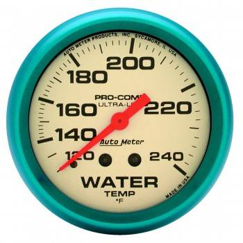 "Auto Meter - Auto Meter Ultra-Nite Water Temperature Gauge - 2-5/8"" - 120°-240°"