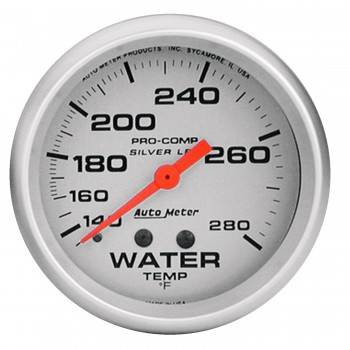 "Auto Meter - Auto Meter Liquid-Filled Water Temperature Gauges - 2-5/8"" - 140°-280°"