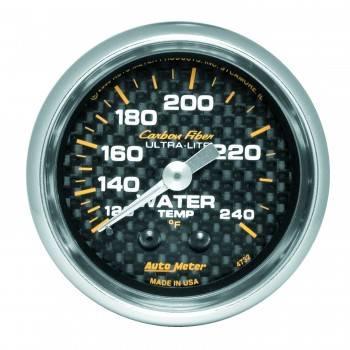 """Auto Meter - Auto Meter Carbon Fiber Water Temperature Gauge - 2-1/16"""" - 120°-240° F"""