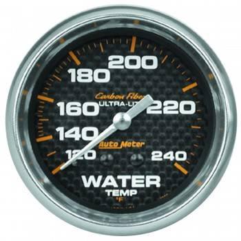 """Auto Meter - Auto Meter Carbon Fiber Water Temperature Gauge - 2-5/8"""" - 120°-240° F"""