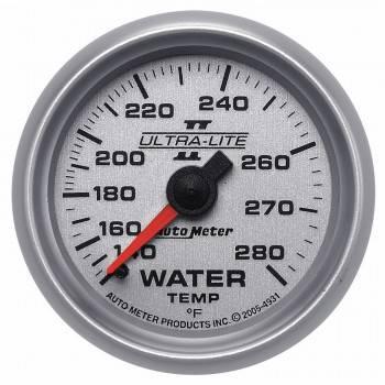 """Auto Meter - Auto Meter 2-1/16"""" Ultra-Lite II Water Temperature Gauge - 140-280°"""