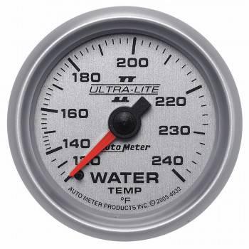 """Auto Meter - Auto Meter 2-1/16"""" Ultra-Lite II Water Temperature Gauge - 120-240°"""