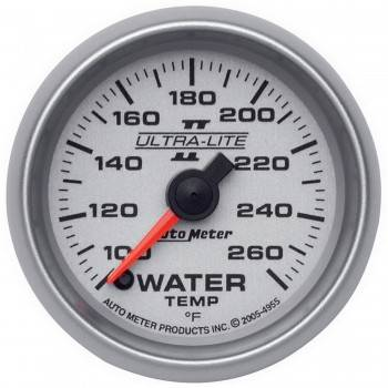 Auto Meter - Auto Meter Ultra-Lite II Electric Water Temperature Gauge - 2-1/16""