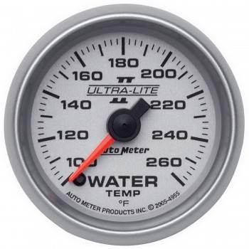 """Auto Meter - Auto Meter Ultra-Lite II Electric Water Temperature Gauge - 2-1/16"""""""