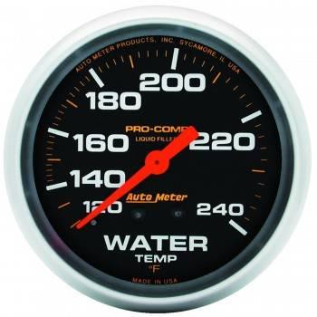 "Auto Meter - Auto Meter Pro-Comp Liquid Filled Water Temperature Gauge - 2-5/8"" - 120°-240°"