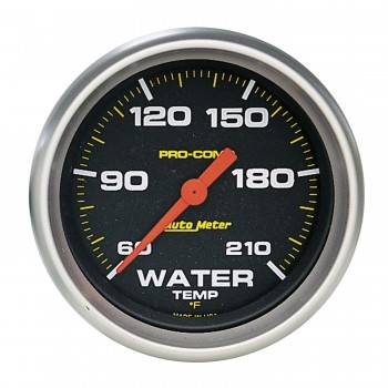 "Auto Meter - Auto Meter Pro-Comp Electric Water Temperature Gauge - 2-5/8"" - 60°-210° F"