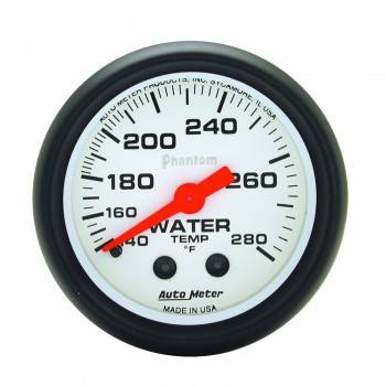 "Auto Meter - Auto Meter Phantom Water Temperature Gauge - 2-1/16"" - 140-280° F"