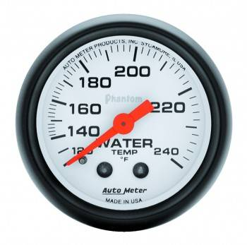 "Auto Meter - Auto Meter Phantom Water Temperature Gauge - 2-1/16"" - 120-240° F"