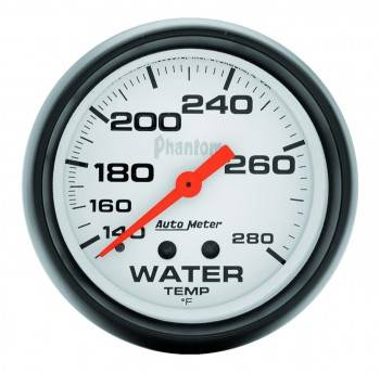 "Auto Meter - Auto Meter Phantom Water Temperature Gauge - 2-5/8"" - 140°-280°"