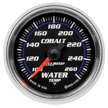 """Auto Meter - Auto Meter Cobalt Electric Water Temperature Gauge - 2-1/16"""""""