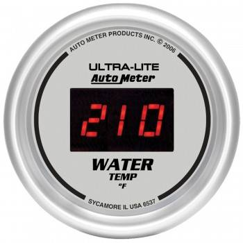 Auto Meter - Auto Meter Ultra-Lite Digital Water Temperature Gauge - 2-1/16 in.