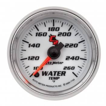 Auto Meter - Auto Meter C2 Electric Water Temperature Gauge - 2-1/16""