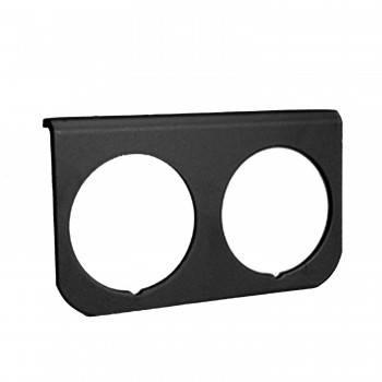Auto Meter - Auto Meter 2-Hole Aluminum Panel - Black