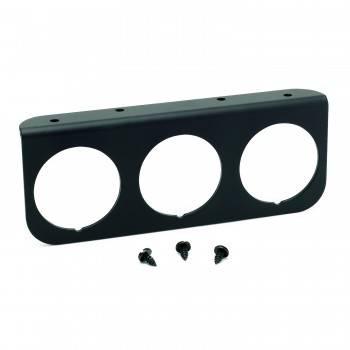 Auto Meter - Auto Meter 3-Hole Aluminum Panel - Black