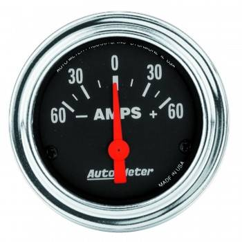Auto Meter - Auto Meter Traditional Chrome Electric Ampmeter Gauge - 2-1/16""