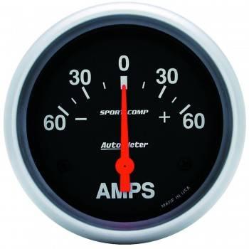 Auto Meter - Auto Meter Sport-Comp Electric Ammeter Gauge - 60-0-60 Amps