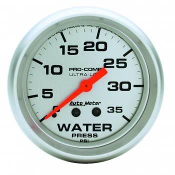 """Auto Meter - Auto Meter 2-5/8"""" Water Pressure Gauge - 0-35 PSI"""
