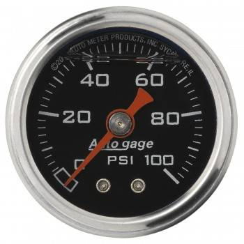 "Auto Meter - Auto Gage Fuel Pressure Gauge - 1-1/2"""