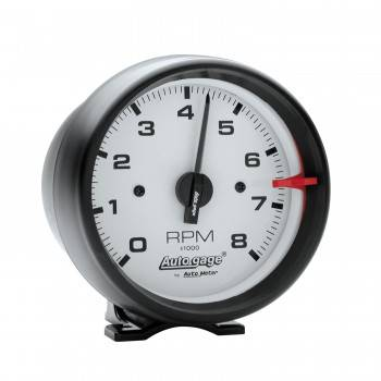 "Auto Meter - Auto Gage White Face Tachometer -3-3/4"""