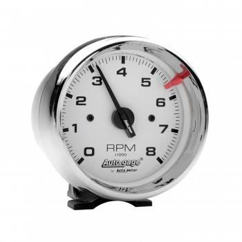 "Auto Meter - Auto Gage White Face Tachometer - 3-3/4"""