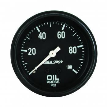 "Auto Meter - Auto Gage Oil Pressure Gauge - 2-5/8"""