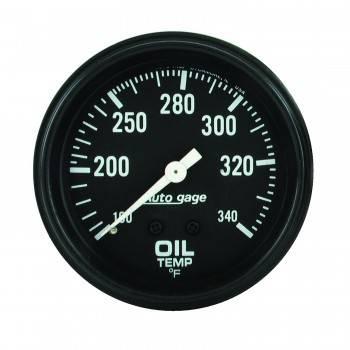 """Auto Meter - Auto Gage Oil Temperature Gauge - 2-5/8"""""""