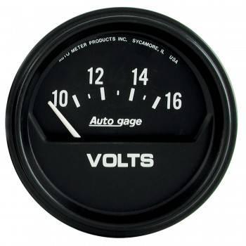 "Auto Meter - Auto Gage Electric Voltmeter Gauge - 2-5/8"""