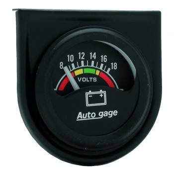 "Auto Meter - Auto Gage Electric Voltmeter Gauge - 1-1/2"""